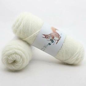 Len lông chồn 70gr/1 cuộn - Chuyên đan khăn len, Áo len