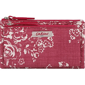 Ví cầm tay Cath Kidston họa tiết Washes Rose (Embroidered Poly Double Pouch Washes Rose)