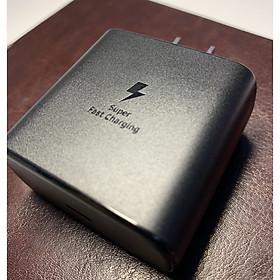 Cốc sạc Nhanh 45W công nghệ Super Fast Charging dành cho Samsung galaxy S20 Ultra, S20, Note 10 Plus Loại chân dẹt