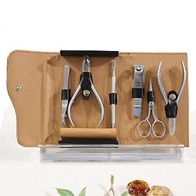 Bộ sản phẩm quà tặng GS-04-PT Kềm Nghĩa cho cuộc sống luôn có Nghĩa Thép chuyên dụng,mạ crom an toàn cho người sử dụng Kềm cắt da, Kềm cắt móng, Bấm móng lớn, Kéo cá nhân, Nhíp, Sủi da