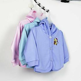 Combo 3 Áo khoác màu thêu có nón cho bé sơ sinh (2đến 11kg)-ngẫu nhiên