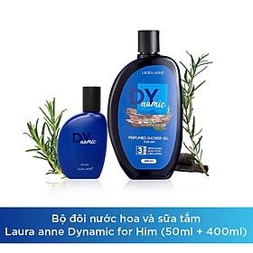 Bộ đôi nước hoa và sữa tắm Laura anne Dynamic for him