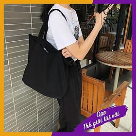 Túi vải canvas, túi tote du lịch thiết kế đơn giản nhiều ngăn phong cách retro - OTV022