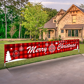 9.84ft Merry Christmas Banner Hanging Christmas Decor for Home Wall Garden Party Gift Festivals Xmas Indoor Outdoor