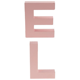2pc Letter L E Pink Wooden Letter Sign Birthday Hanging Wall Decor Ornament