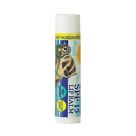 Son Dưỡng Chống Nắng Thiên Nhiên Badger SPF 15 Clear Lip Balm - Thuần vật lý, phổ rộng broad-spectrum, an toàn cho san hô, 97% thành phần hữu cơ