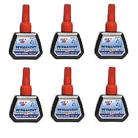 Bộ  6 Mực bút lông dầu Thiên Long PMI-01