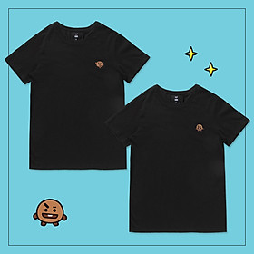 Set 2 áo thun BT21 x HUNT 2Pack Set Black Shooky HIXH8A901T