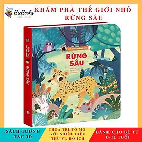 Sách - Khám phá thế giới nhỏ Rừng Sâu- Sách 2D tương tác lật mở cho trẻ (0-12 tuổi)- NXB Lao Động