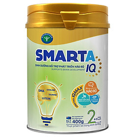 Sữa bột SmartA IQ 2 dinh dưỡng hỗ trợ phát triển não bộ cho bé 6-12 tháng tuổi (400g, 900g)