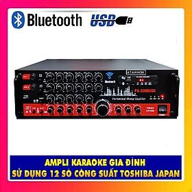Ampli Bluetooth Karaoke ATANNOII PA - 3000USB - Amply 12 sò lớn - nút nhôm - quạt tản nhiệt - Hàng chính hãng