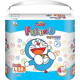 Combo 2 bịch Tã quần Goon Friend Doremon mới gói siêu đại L58 (9kg ~ 14kg)