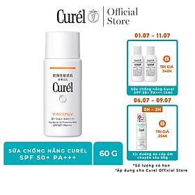 UV sữa chống nắng Curel UV Protection Milk SPF 50+ PA+++ (60ml)