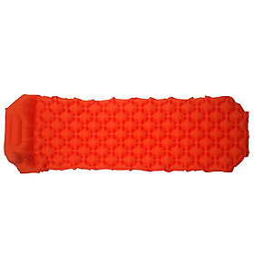 Outdoor Inflatable Cushion Sleeping Bag Mat Fast Filling Air Moistureproof Camping Mat With Pillow Sleeping Pad