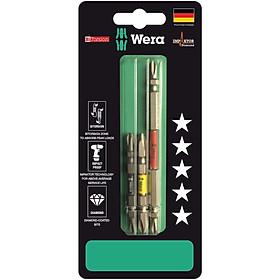 Bộ mũi vít 2 đầu 4 cạnh cho máy khoan bắt vít 851/23 BiTorsion Impaktor phủ kim cương PH2 x 65mm và PH2 x 110mm, 3 cái, Wera 05344490001