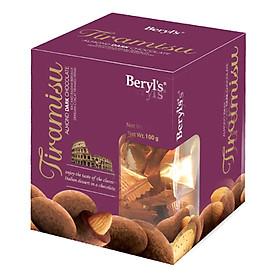 Choco Beryl's Tiramisu Almond Dark (100g)