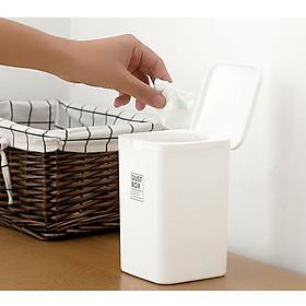 Hình ảnh Bộ 3 thùng đựng rác mini bằng nhựa cao cấp an toàn tuyệt đối - Hàng Nhật nội địa