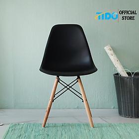 Ghế Nhựa Chân Gỗ Eames - Ghế Bàn Ăn, Cafe - Chính Hãng TIDO