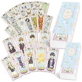 Bộ bài Tarot màu xanh Clow card Cardcaptor Sakura KINOMOTO SAKURA thủ lĩnh thẻ bài pha lê 30 lá