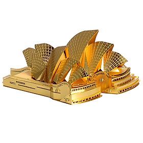 Mô hình lắp ráp kim loại Piececool P022-G - Nhà hát Con Sò, Sydney