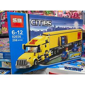 Bộ đồ chơi lắp ráp, xếp hình xe container, xe vận tải chở hàng cỡ lớn và đội vận chuyển chuyên nghiệp