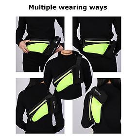 Unisex Waist Bag Waterproof Large Capacity Adjustable Strap Zipper Reflective Stripe Climbing Hiking Sports Bag Waist-4
