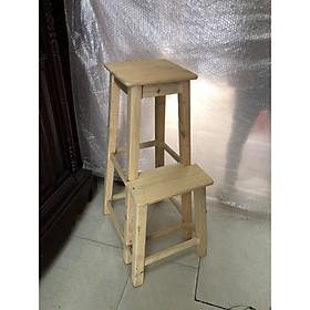 Ghế thắp hương (thắp nhang) - gỗ mộc 2  cao 90cm hh01
