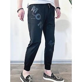Quần Jogger Nam ống bo 9 tấc có in chữ bắt mắt, chất liệu vải Cotton cao cấp, dáng ôm, co giãn mặc thoải mái, dễ phối đồ phù hợp xu hướng thời trang