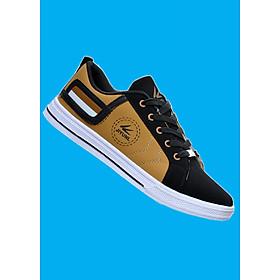 Giày sneaker thời trang nam , cá tính , thanh lịch 508 Đen phối vàng