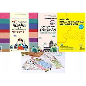 Combo Toàn Tập Về Luyện Nghe Nói Phát Âm Tiếng Hàn ( tặng kèm Bookmark )