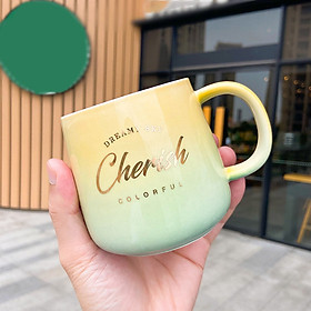 Europe Gradient gold Coffee Mug creative Drinkware Coffee Tea Cups Novelty Gifts milk cup Breakfast Mug Dropshipping