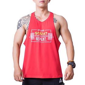 Áo Stringer Tập Gym Nam Fitme Cotton FAGMCT-DO (Đỏ)