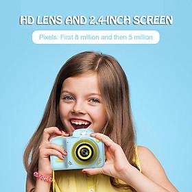Máy ảnh kĩ thuật số cho bé hỗ trợ chụp ảnh, quay video với màn hình ABS 2.4 inch và khe cắm thẻ nhớ