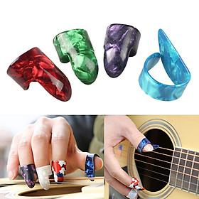 Set 4 Pick Gảy Đàn Guitar Đeo Ngón Tay Bằng Celluloid