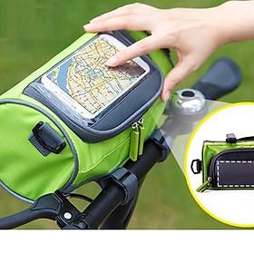 Túi đeo handlebar treo xe đạp cảm ứng điện thoại