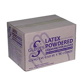 Găng tay y tế latex S Gloves - Bao tay y tế có bột màu trắng hộp 100 chiếc