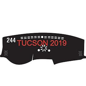 Thảm da Taplo vân Carbon Cao cấp dành cho xe Huyndai-Tucson-2019-2020 có khắc chữ Huyndai-Tucson và cắt bằng máy lazer