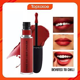 Son Kem Mac Powder Kiss Liquid Lipcolour 991 Devoted To Chili 5ml - Đỏ Gạch