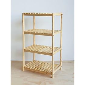 Kệ lò nướng - Kệ lò vi sóng - kệ nhà bếp đa năng bằng gỗ thông tự nhiên 4 tầng kích thước 60 x 40 x 110 cm