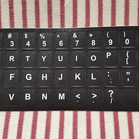 Miếng dán phím chữ ngôn ngữ Tiếng Anh, chuẩn ngôn ngữ US