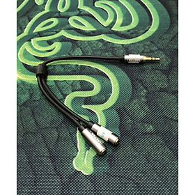 Dây chuyển từ jack 3.5 ly ra 2 lỗ tai nghe loại tốt
