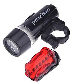 Bộ đèn pin gắn xe đạp và đèn chiếu hậu 5 LED WJ-101