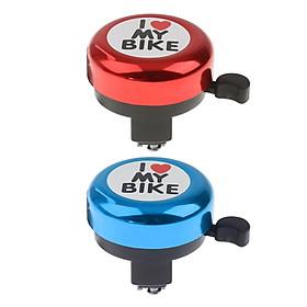 2Pcs I Love My Bike Alloy MTB Bike Bell Horn Kid's Alarm Bicycle Bell Bike Accs