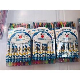 Bút sáp màu vặn cho trẻ Gồm :12 màu,18 màu,24 màu-Giao ngẫu nhiên màu theo giới tính bé trai,bé gái.