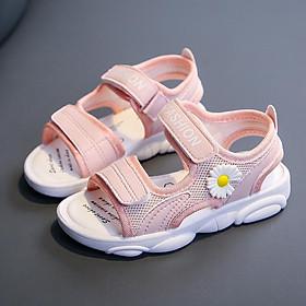 Giày Sandal Đế Mềm Thoáng Khí Thời Trang -Dép Sandal Hoa Cúc Cho Bé Gái Size 25-37 Mã S03