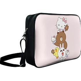 Túi Đeo Chéo Hộp Unisex LINE Friends Và Hello Kitty - TCCT614