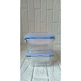 bộ 2 hộp thủy tinh đựng thực phẩm loại 520ml