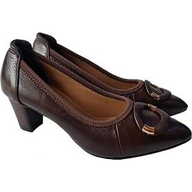 Giày Cao Gót Nữ Công Sở Da Bò BIGGBEN GCG2