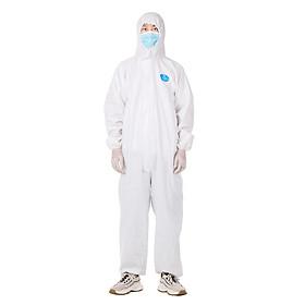 Bộ trang phục áo liền quần bảo hộ phòng dịch, chống tĩnh điện mặc 1 lần cho nhân viên
