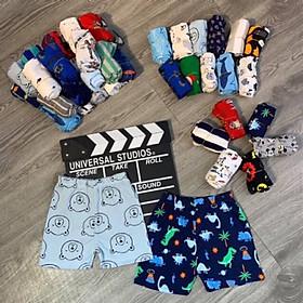 Combo 10 quần đùi Boyzip bé trai, nhiều hình ngộ nghĩnh